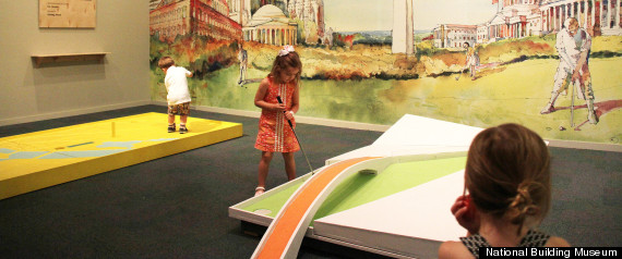 MINIGOLF AT THE NATIONAL BUILDING MUSEUM