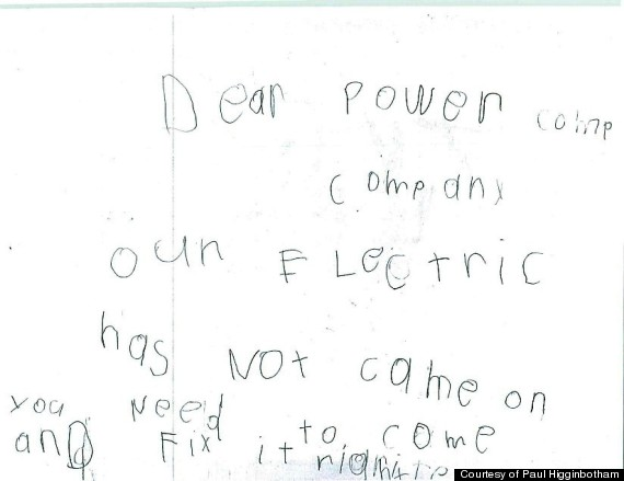 kid power company letter