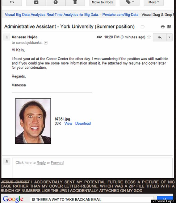 accidental nic cage resume is amazing picture huffpost