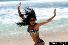 Nicole Scherzinger Does Some Surfing In Mexico, Looks Hot In A Bikini