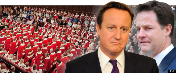 HOUSE OF LORDS CAMERON CLEGG