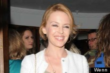 Kylie Minogue Visits The Hurly Burly Show In Laid Back Jeans And Jacket Look