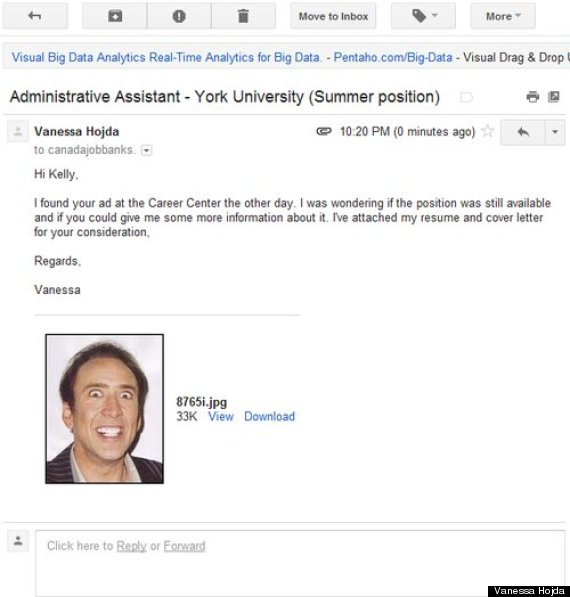 nic cage job application