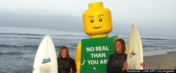 8 FOOT TALL LEGO MAN