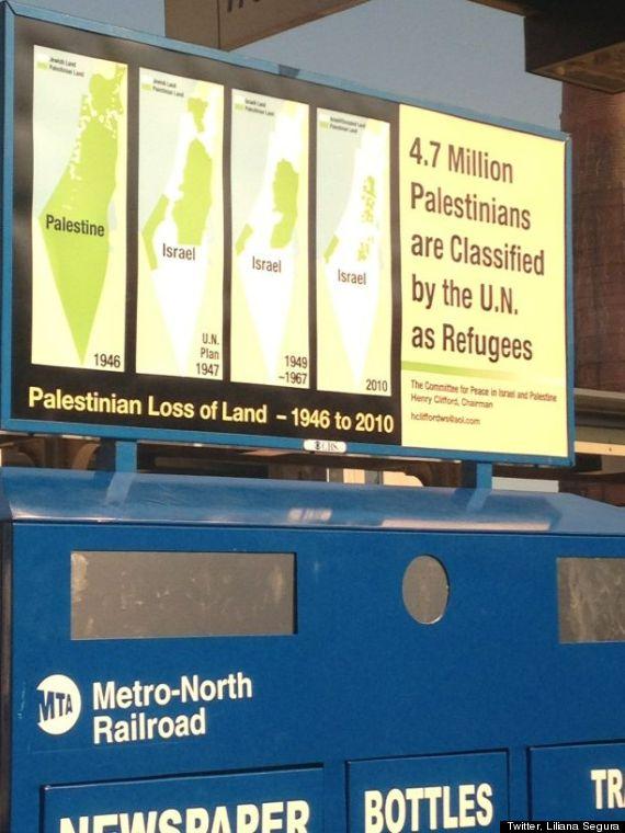 pro palestine subway ads