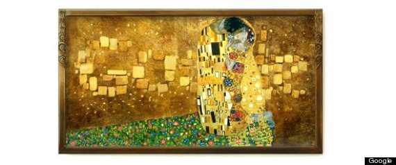 Gustav Klimt Google Doodle