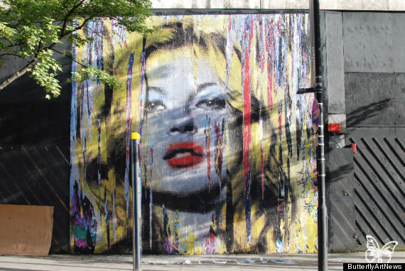 Mr brainwash announces new solo show with mural of kate for Mural mr brainwash