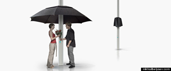 Lampbrella Lamp Post Umbrella