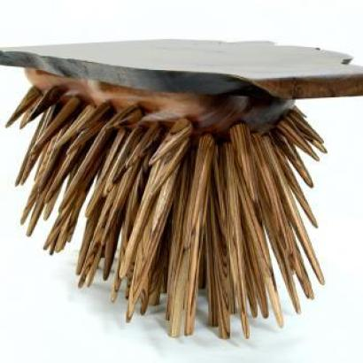 custommade porcupine table