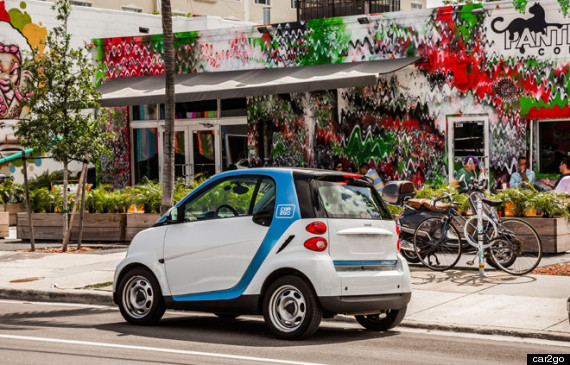 car2go miami launch car sharing eco friendly