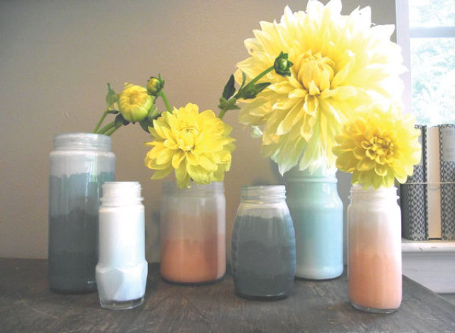 craft of the day ombre jars