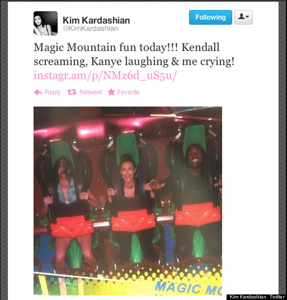 kim kardashian kanye west roller coaster