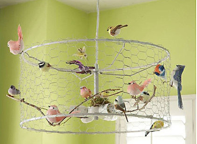 Hot on pinterest a bird cage chandelier huffpost hot on pin bird chandlier aloadofball