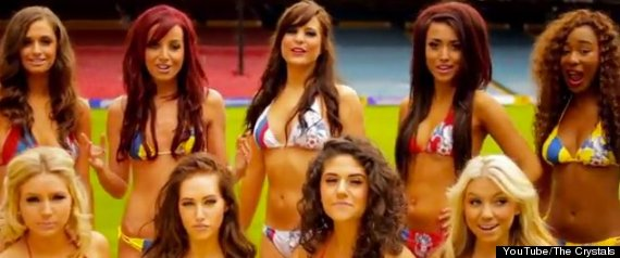 CRYSTAL PALACE CHEERLEADERS CALL ME MAYBE