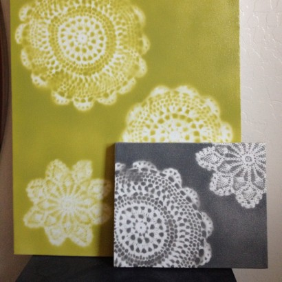 Craft Of The Day Unique Wall Art Made From Doilies Huffpost