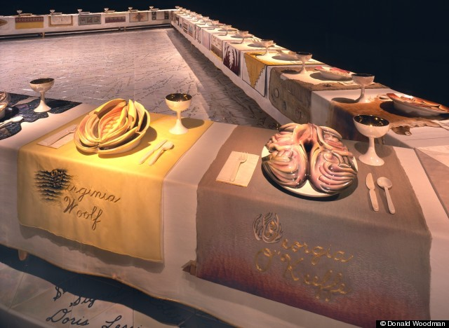 02judy chicago the dinner party wing 3 woolf okeef
