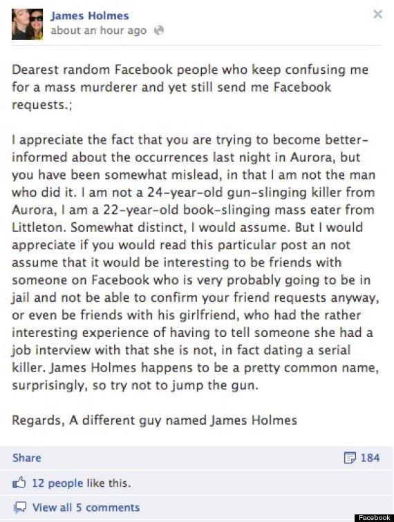 facebook james holmes