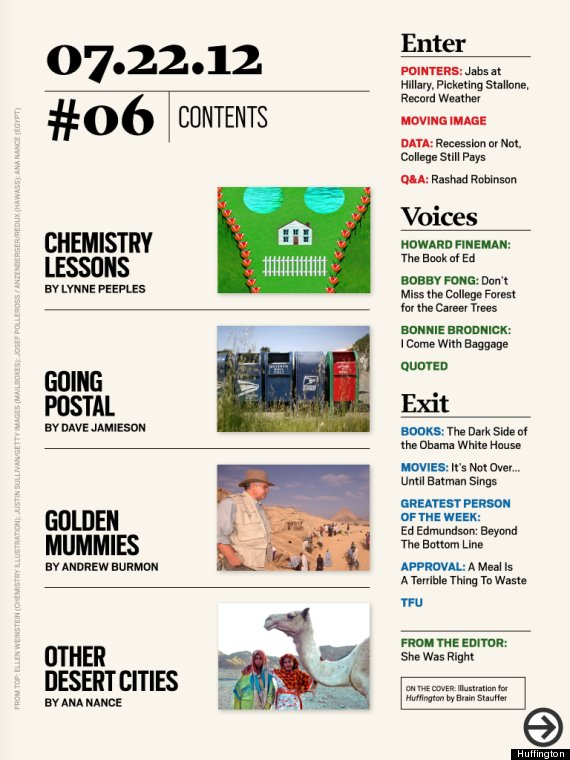huffington issue six toc
