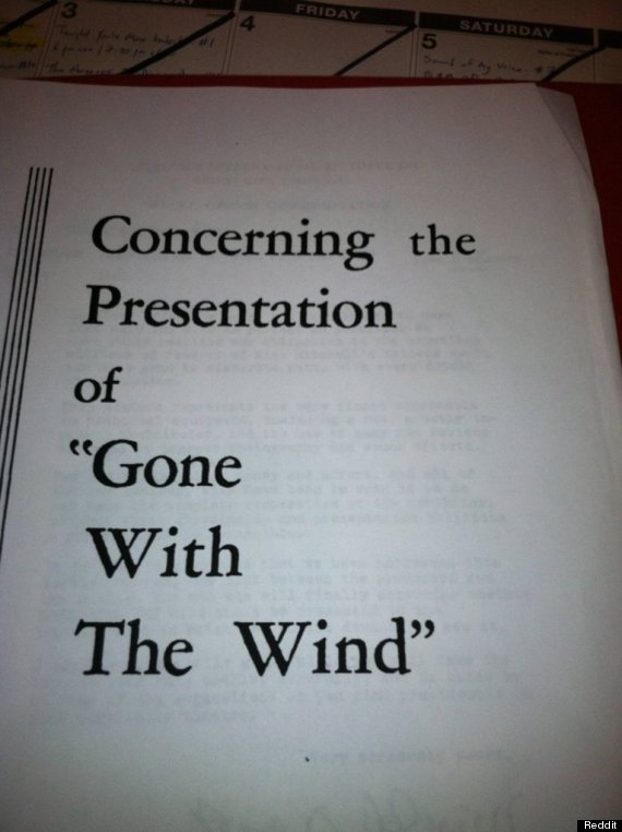 gone with the wind projection instructions