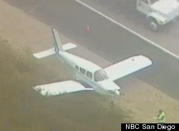 Plane Lands Highway 15