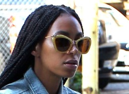 Solange Knowles Is Sharp In Stripes