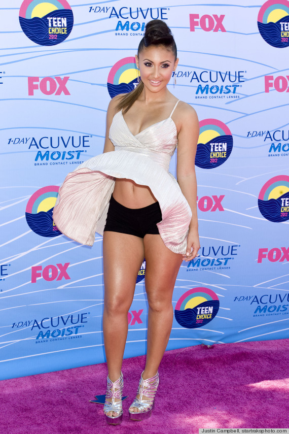 Francia Raisa's Wardrobe Malfunction At The Teen Choice Awards (PHOTOS