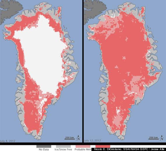 NASA fusión de Groenlandia