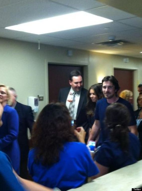 Christian Bale Visits Dark Knight Rises Shooting Victims In Colorado