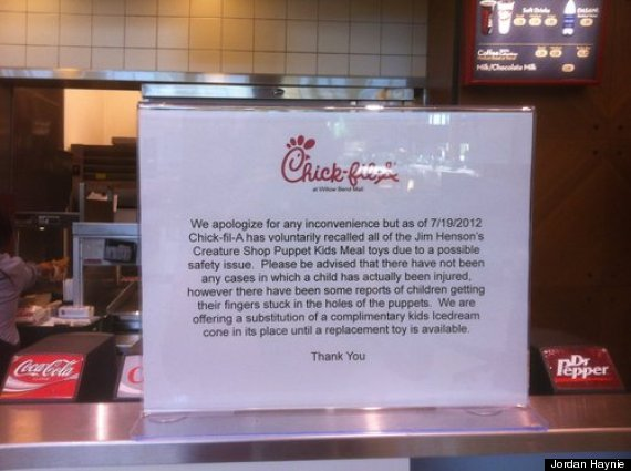 chick fil a sign
