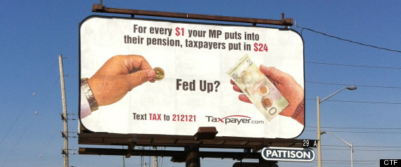 Canadian Taxpayers Federation Billboards