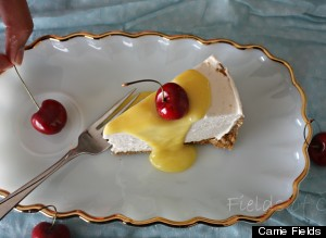 lemon curd and cherries