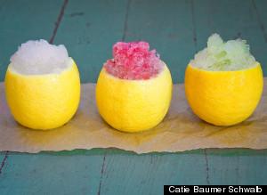 3 lemon granitas