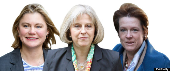 THERESA MAY JUSTINE GREENING CAROLINE SPELMAN