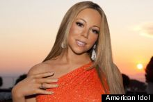 Woah - Mariah Looks Not At All Massively Uncomfortable And Awkward For Idol Press Shot