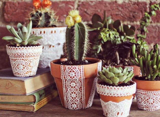 craft of the day create a unique lace flower pot  huffpost, Beautiful flower