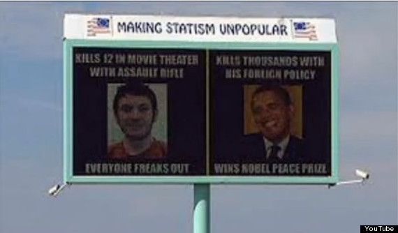 idaho billboard compares obama james holmes