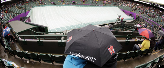 LONDON RAIN DELAYS OLYMPIC TENNIS