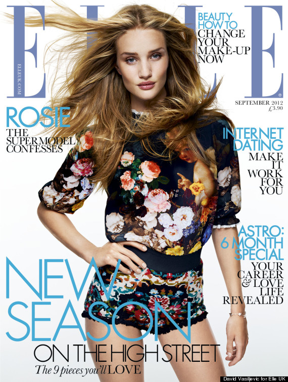 rosie huntington whiteley cover elle