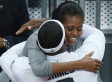 Michelle Obama Photo Caption Contest: First Lady Hugs LeBron James