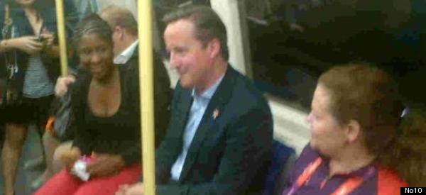 David Cameron Takes The Tube To See Tom Daley - Twitter Reacts