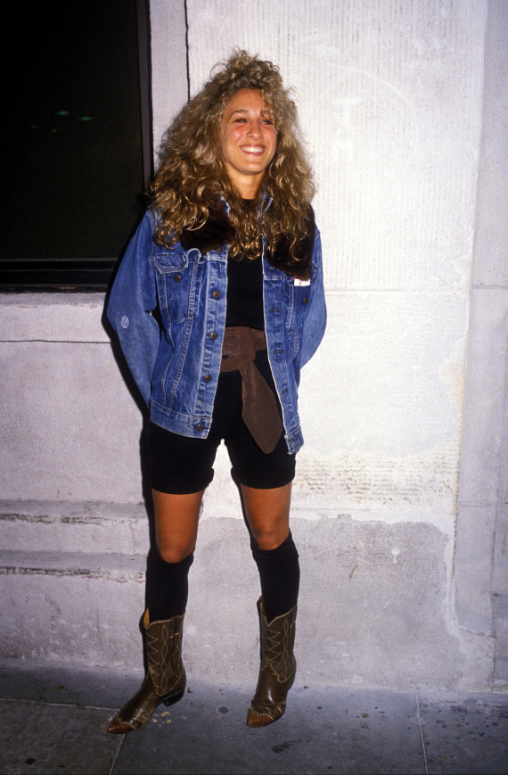 Sarah Jessica Parker Paired Boots With Knee Highs In The 39 80s Photo Huffpost