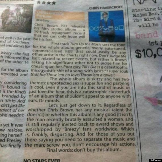 chris brown review
