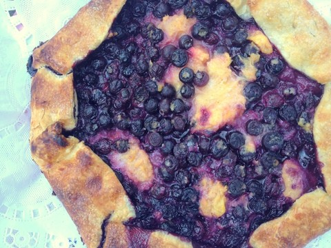 blueberry peach crostada recipe