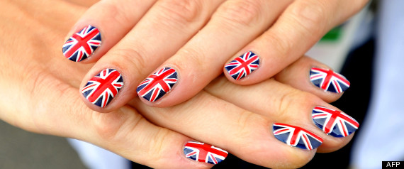 deco ongles drapeau anglais