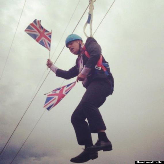 boris johnson zip wire