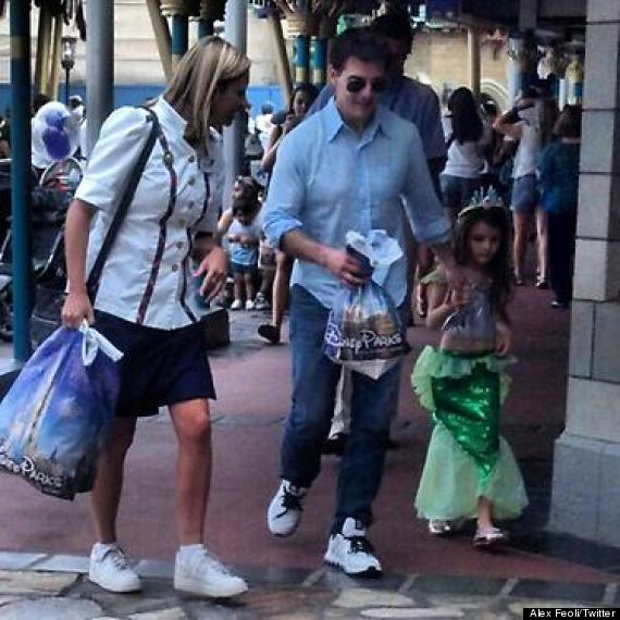 Tom Cruise Suri Cruise Spend The Day At Disney World