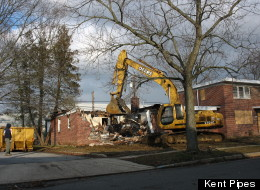 Crane Demolishing 102 Levis Dr 3