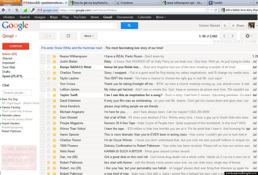kristen stewart inbox