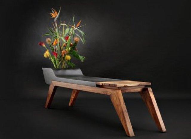 custommade curator planter bench