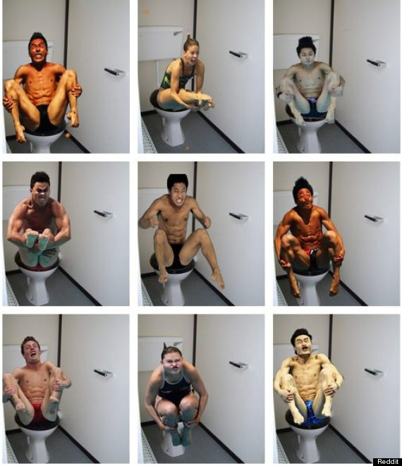 olympic divers toilets